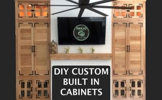 diy custom built ins for living room