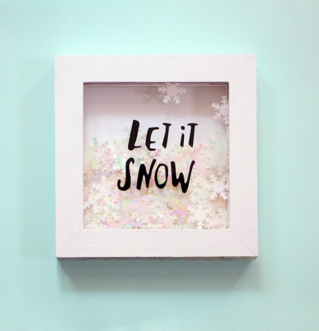 s 15 fun things you can make using your cricut, Shadowbox Snowflake Artwork
