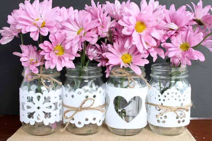 s 15 fun things you can make using your cricut, Wedding Mason Jars