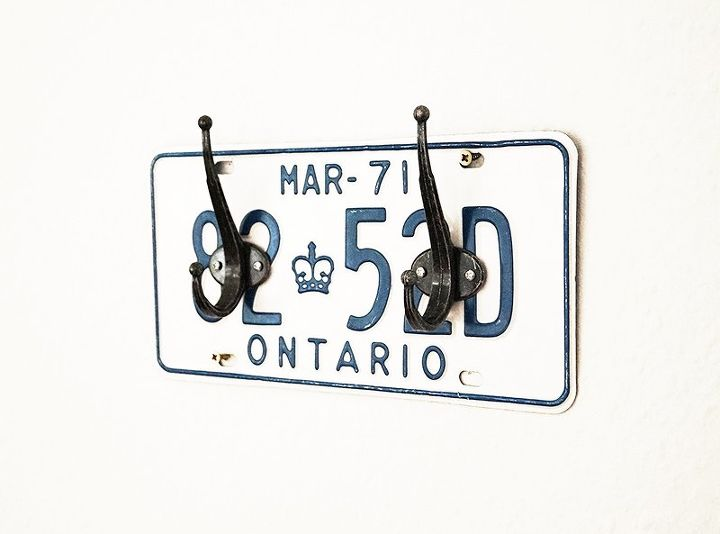 s these bloggers are just too creative check out their projects, License Plate Coat Rack
