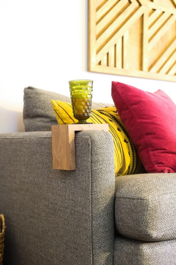 s these bloggers are just too creative check out their projects, Sofa Arm Table