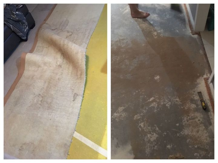 How To Turn Carpet And Linoleum To Faux Wood Floor Diy