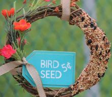 diy birdseed wreath