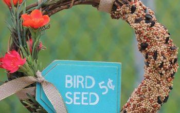 diy birdseed wreath