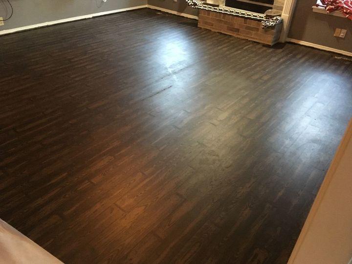 Carpet And Linoleum To Faux Wood Floor