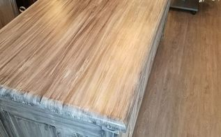 boutique counter from an old door, Completed countertop