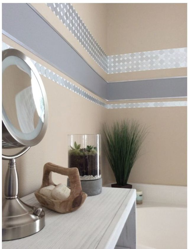 Decorate Your Bathroom Walls With Tin Caps | Hometalk
