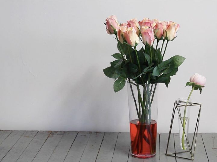 s beautify your home with flower ideas, Acrylic Water Flower Arrangement