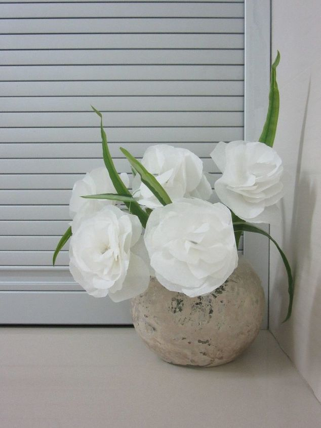s beautify your home with flower ideas, Crepe Paper Flowers