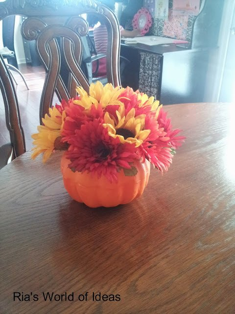 s beautify your home with flower ideas, Pumpkin Bouquet