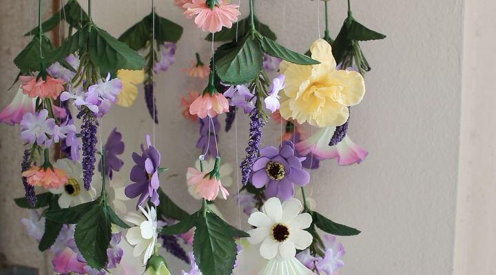 s beautify your home with flower ideas, Floral Chandelier
