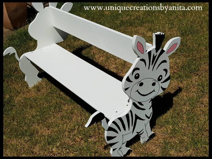 animal bench for a toddler