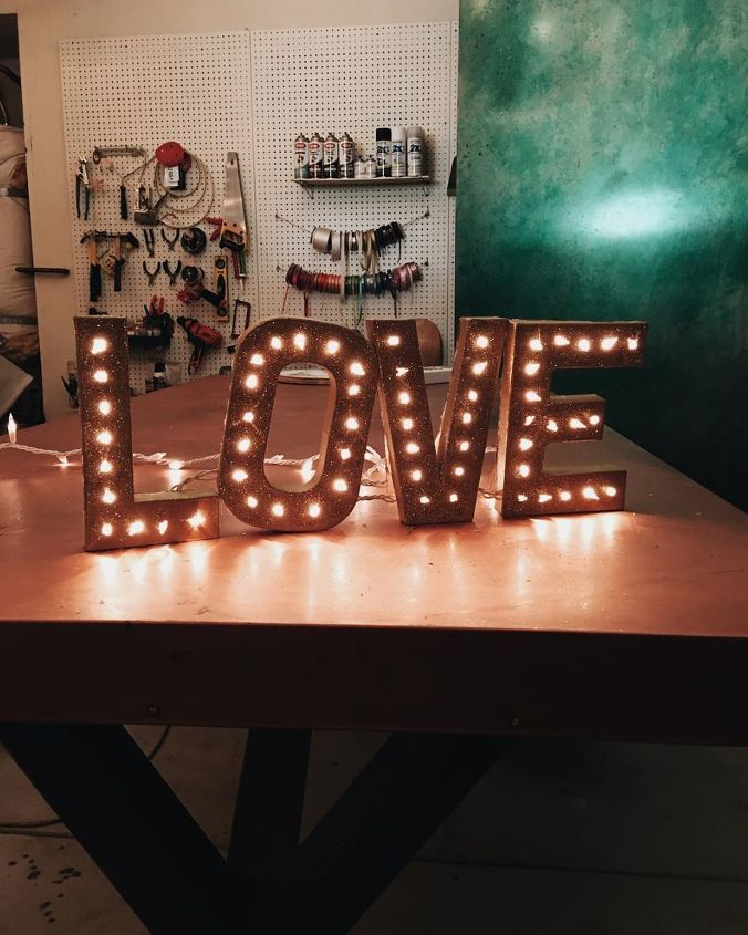 s 16 stunning sign ideas you can make for your home, Marquee Love Sign