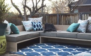 diy outdoor sectional sofa tutorial and building plan