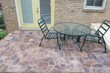 faux flagstone patio