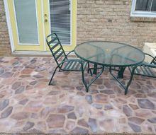 faux flagstone patio