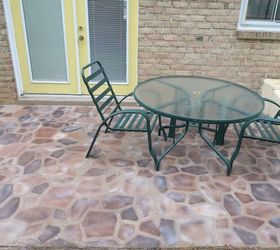Incroyable Faux Flagstone Patio