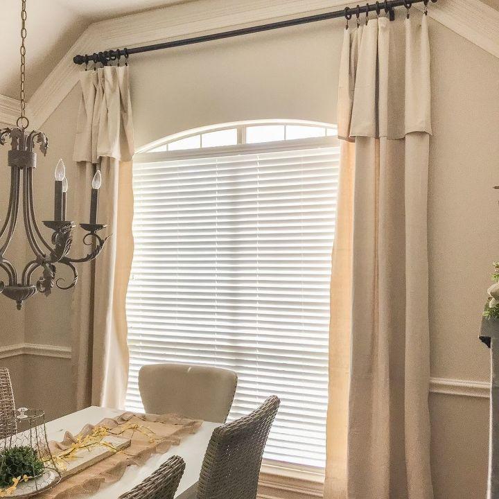 no sew drop cloth curtains