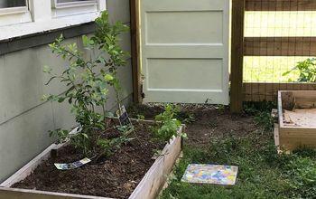 Garden Gate From Repurposed Vintage Wooden Door