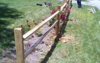 Repairing the Split-Rail Fence at the Mountain Cabin