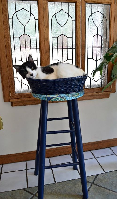 upcycled bar stool your cat with love this