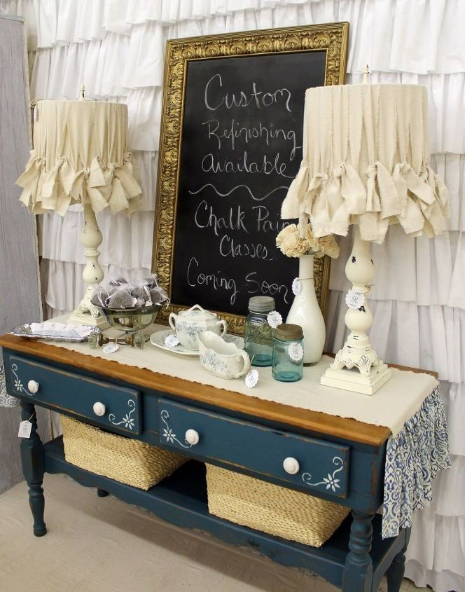 how to make a shabby chic lampshade