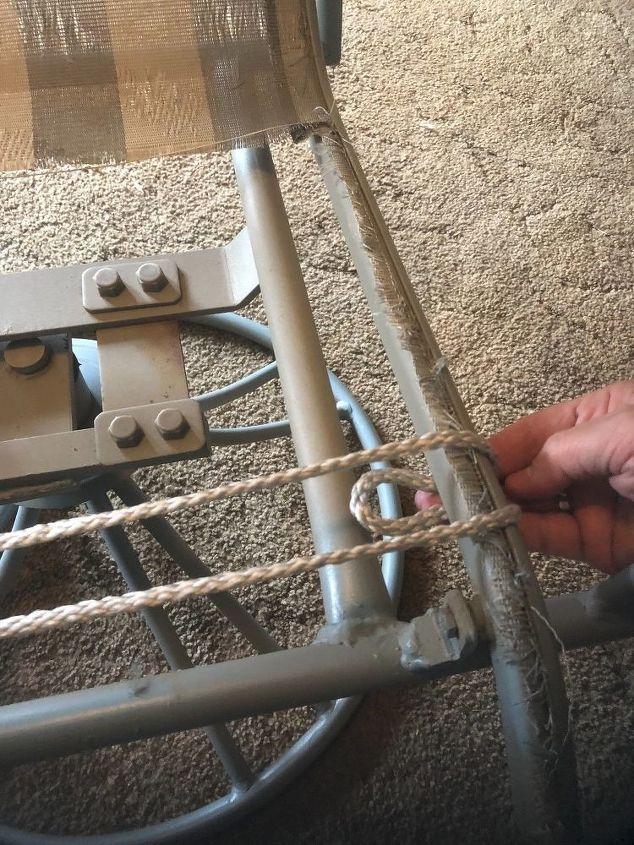broken patio chair rescue