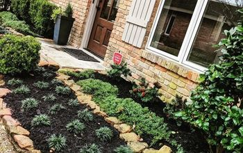 Tiny Front Flower Beds...