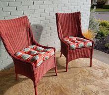 from blah to brilliant updated front porch seating and seat chusions, AFTER