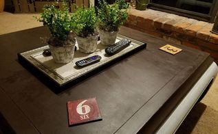 easy coffee table decor doubles as remote control tray