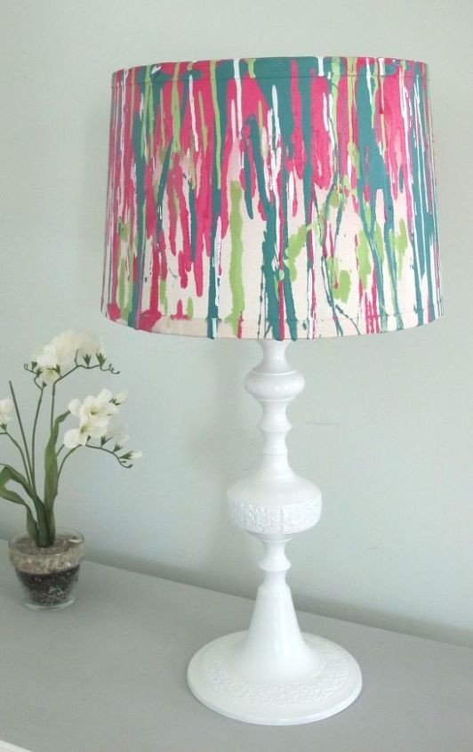 s spruce up your plain lamp with one of these great ideas, A Colorful DIY Makeover