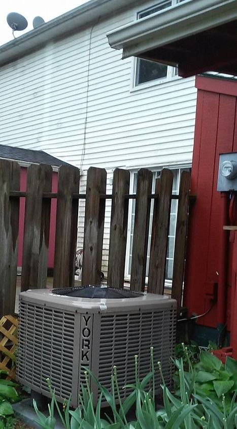 q how can i build a roof over outside ac unit