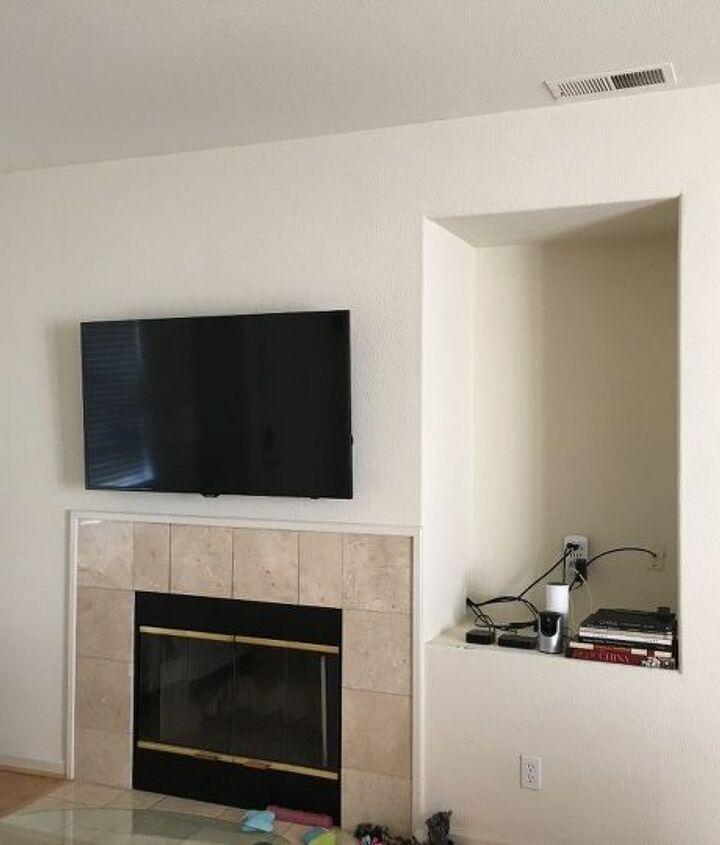 q ideas for tv wall cutout