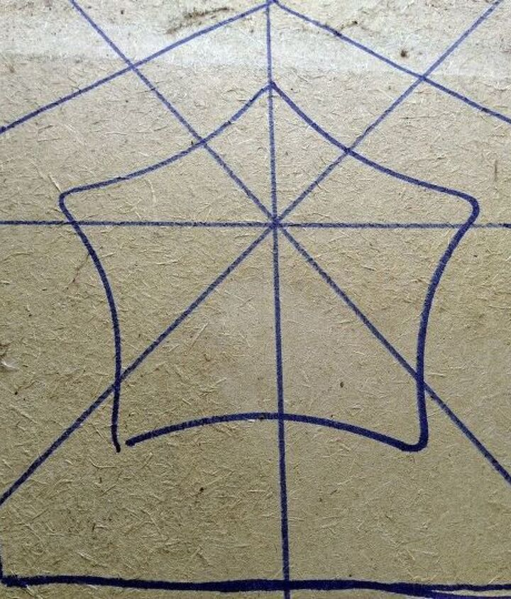Draw the star onto the wood.