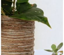 create a cute vase from a tin can