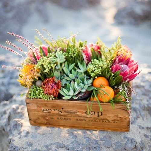 add flowers in spring and summer and make it your centerpiece.