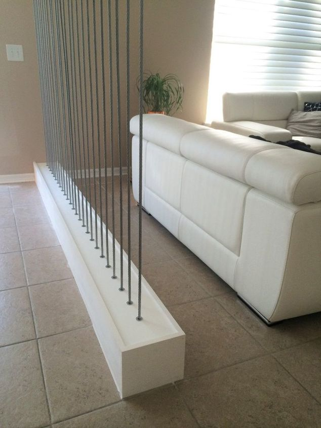 creating a space dividing wall with wire rope