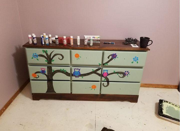 owl dresser for grandma