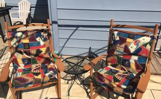 patio chairs fun makeover, Fun and funky