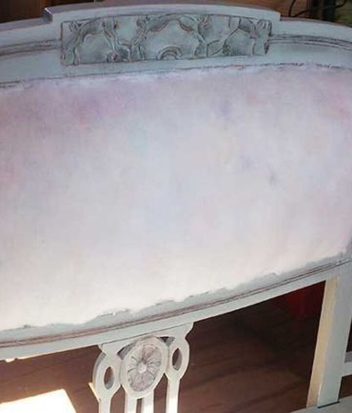 old sofa makeover turns into a stunning piece of art