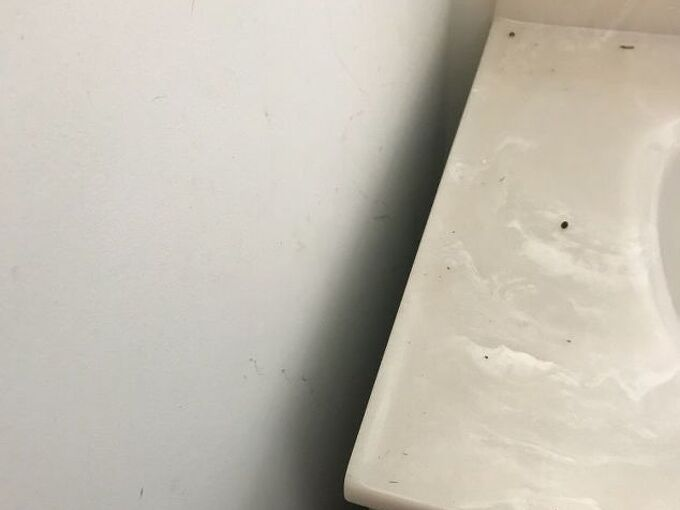 q small space in bathroom
