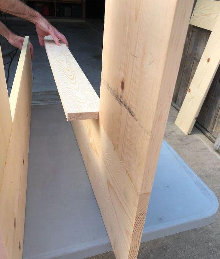 corner wooden shelf
