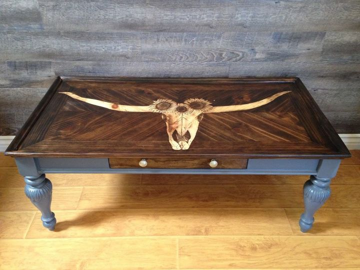 that s aint no bull stain shaded coffee table makeover