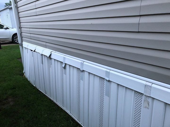 q what can i use to stabilize the skirting on my mobile home