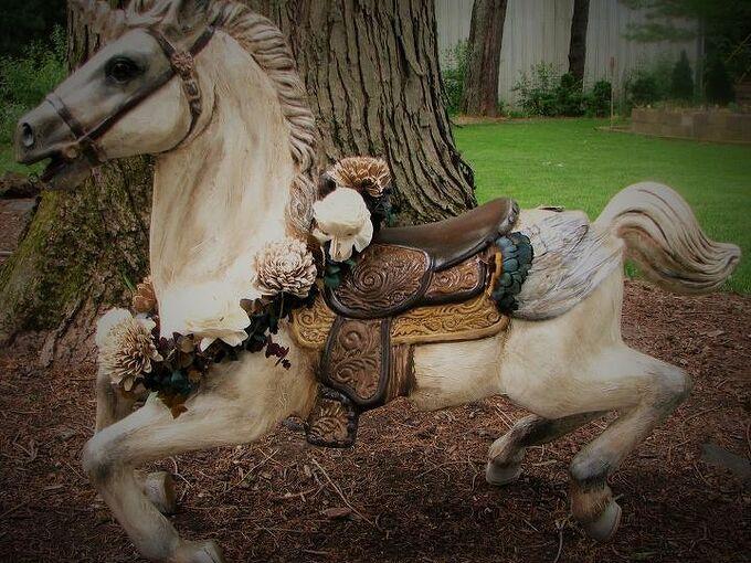 plastic rocking horse makeover