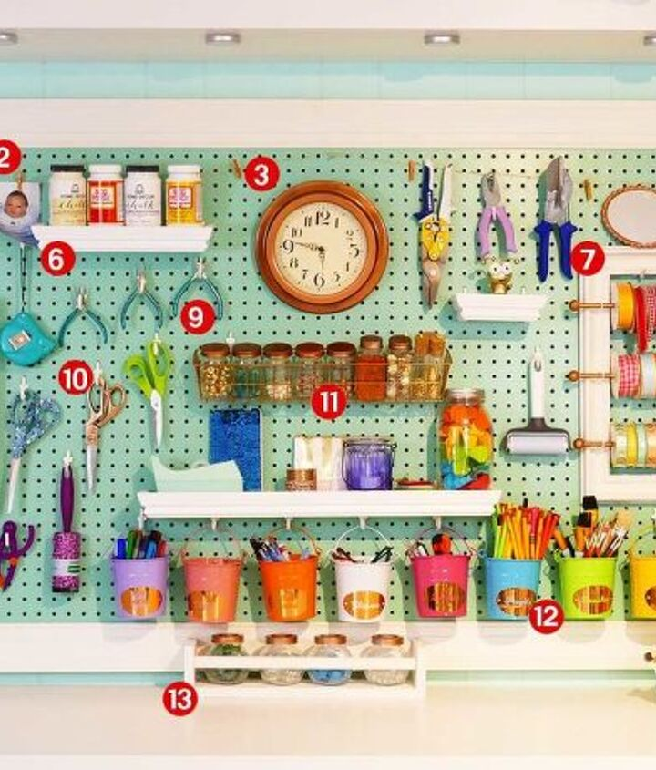 giant framed pegboard easy pretty