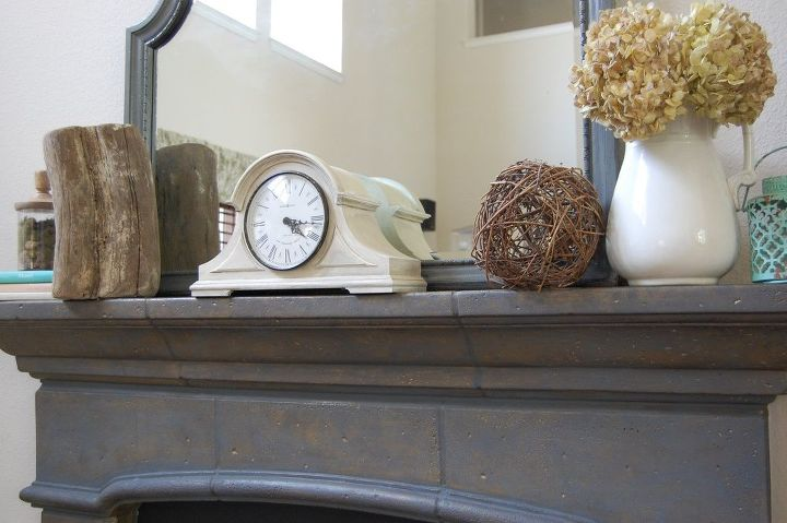 recycle and repurpose for summer mantel decor