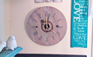 mini cable spool clock