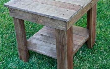 i built a rustic farmhouse style end table