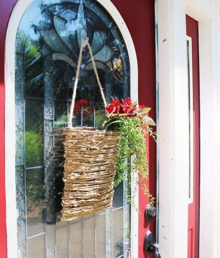 60 second basket wreath on a budget